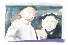 Der verstorbene Kim Jong II mit seinem Sohn Kim Jong, SZ