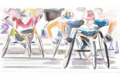 Marathon der Rollstuhlfahrer, bei den Paralympics in London