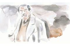 Günter Grass, Gedicht: Was gesagt werden muss, Pressebilder als Aquarelle, SZ