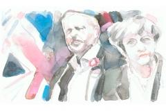 8. Juni 2017 – Wahlen in Großbritannien: Labour-Chef Jeremy Corbyn und Premierministerin Theresa May