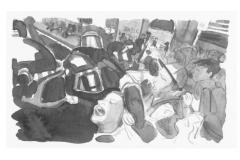 2./3.  Oktober 2017 –  Spaniens Polizei greift in Barcelona brutal durch.