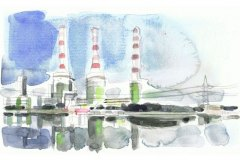 Süddeutsche Zeitung Titelbild,Kraftwerk Irsching